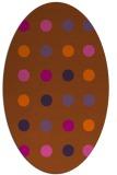 rug #685361   oval red-orange circles rug