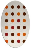 rug #685365 | oval red-orange circles rug