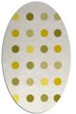 rug #685373 | oval white retro rug