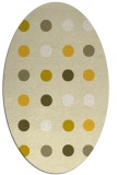 rug #685385 | oval yellow circles rug