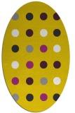 rug #685397 | oval yellow circles rug