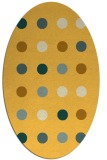 rug #685401 | oval yellow circles rug