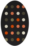 rug #685405 | oval black circles rug