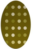 rug #685417 | oval light-green circles rug