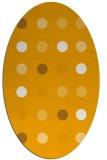 rug #685433   oval light-orange circles rug