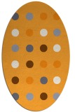 rug #685445 | oval white retro rug