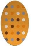 rug #685445 | oval light-orange rug