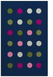 rug #685485 |  blue circles rug