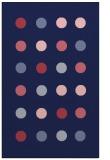 rug #685541 |  blue-violet circles rug