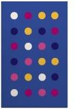 rug #685553 |  blue-violet circles rug