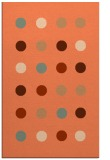 rug #685649 |  red-orange circles rug