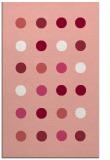 rug #685669 |  pink retro rug