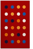 rug #685689 |  red retro rug