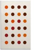 rug #685717 |  red-orange circles rug