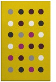 rug #685749 |  yellow circles rug