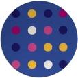rug #685905   round blue-violet retro rug
