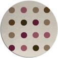 rug #685954 | round retro rug