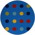 rug #685969 | round blue circles rug
