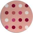 rug #686021 | round pink rug