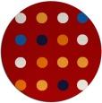 rug #686041 | round red circles rug