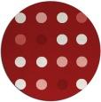 rug #686049   round red circles rug