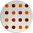 rug #686069 | round red-orange circles rug
