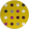 rug #686101 | round yellow retro rug