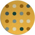 rug #686105 | round yellow circles rug