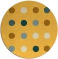 rug #686105 | round light-orange retro rug
