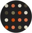 rug #686109   round black retro rug