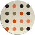 rug #686110 | round retro rug