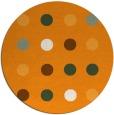rug #686145 | round light-orange circles rug