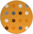 rug #686149   round light-orange retro rug