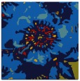 rug #688433 | square blue graphic rug