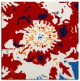 rug #688505 | square red graphic rug