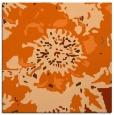 rug #688525 | square red-orange graphic rug