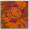 rug #688529 | square red-orange graphic rug