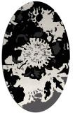 rug #688621 | oval black graphic rug
