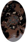 rug #688633 | oval black natural rug