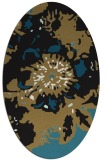 rug #688637   oval brown graphic rug