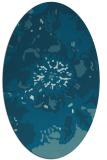 rug #688669 | oval blue-green natural rug