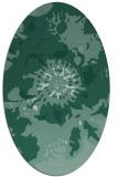 rug #688673 | oval blue-green natural rug