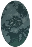 rug #688689 | oval blue-green rug