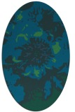 rug #688697   oval blue graphic rug