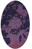 rug #688713   oval purple graphic rug