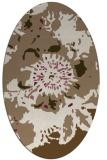 rug #688769 | oval beige graphic rug