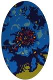 rug #688785 | oval blue rug
