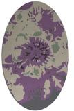 rug #688797   oval purple graphic rug