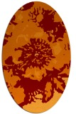 rug #688805 | oval orange graphic rug