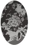 rug #688817 | oval orange graphic rug